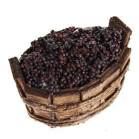 Tina oval uva negra, pesebre Napolitano s1