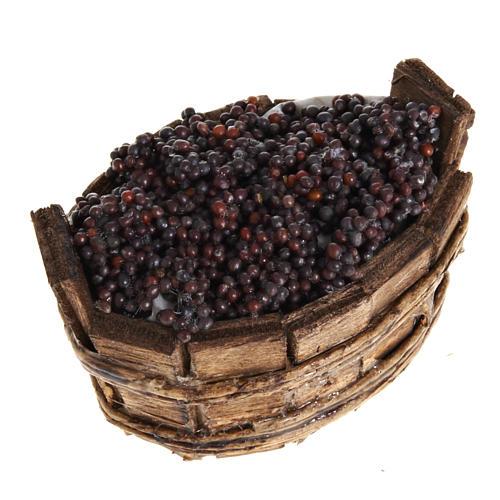 Tinozza ovale uva nera presepe Napoli 1