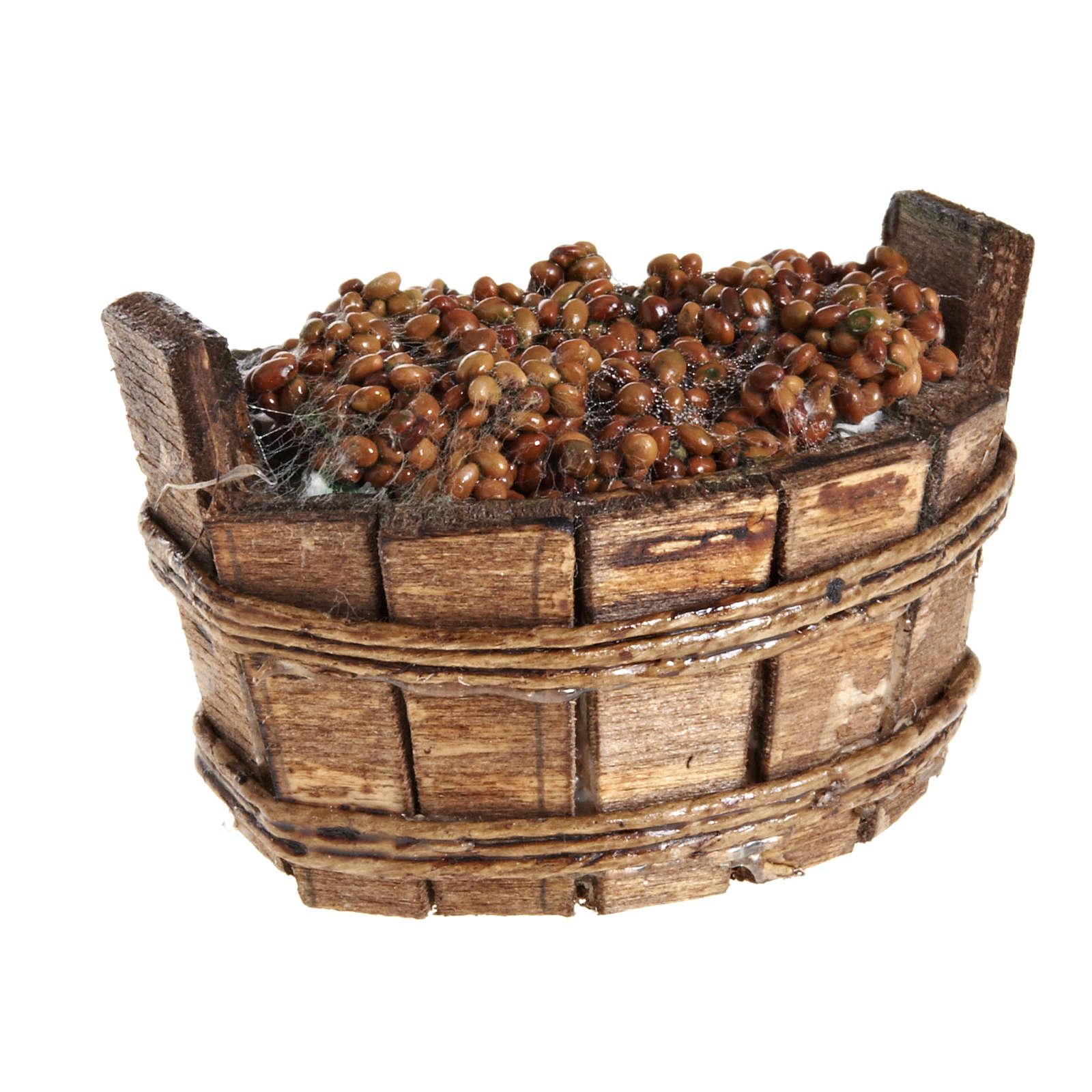 Mini baquet ovale raisin crèche napolitaine 4