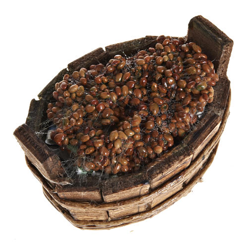 Mini baquet ovale raisin crèche napolitaine 1