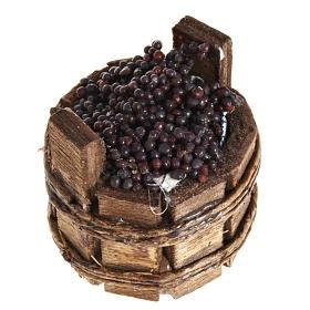 Presepe Napoletano: Tinozza tonda uva nera presepe Napoli