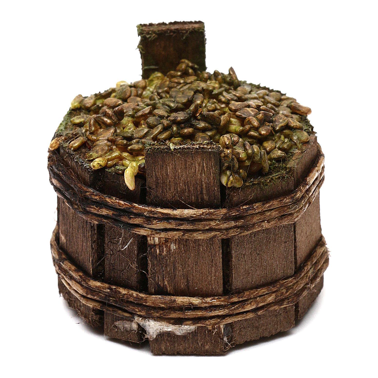 Décor crèche napolitaine, baquet ronde raisin 4