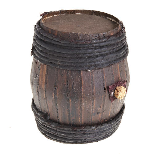 Barril de madera 11 cm.:  Pesebre Napolitano 2
