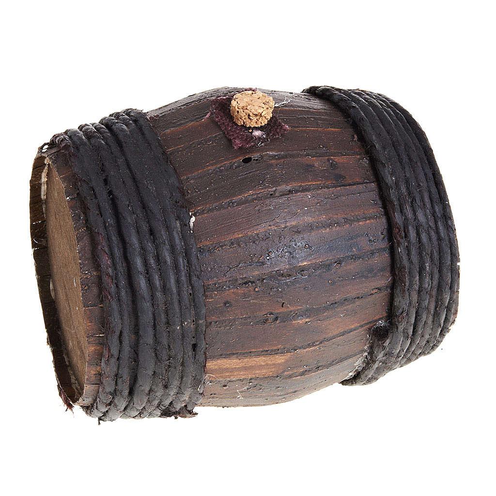 Botte legno 11 cm presepe Napoli 4