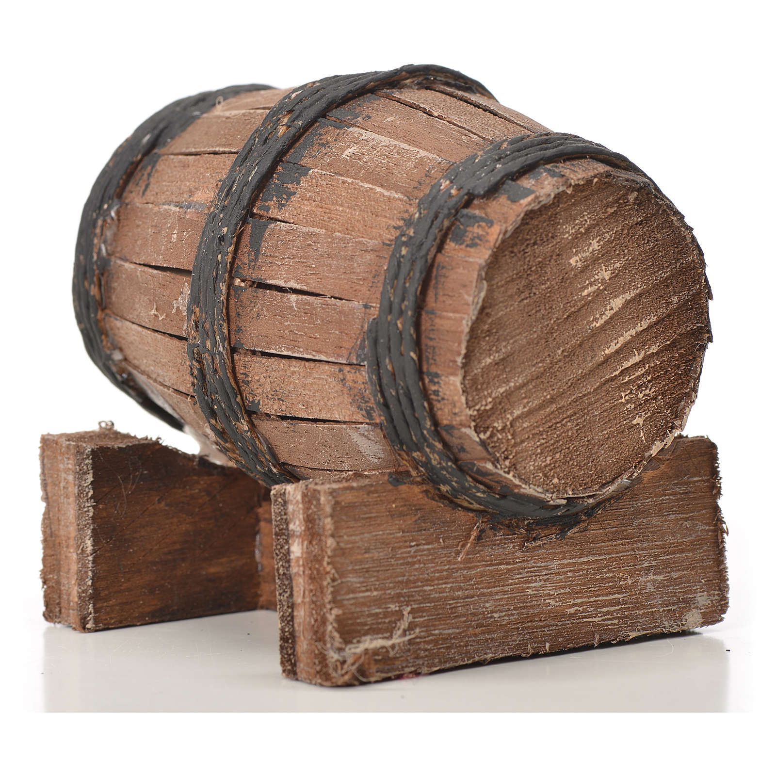 Mini tonneau bois 7.5 cm pour crèche napolitaine 4