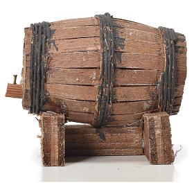 Mini tonneau bois 7.5 cm pour crèche napolitaine s4