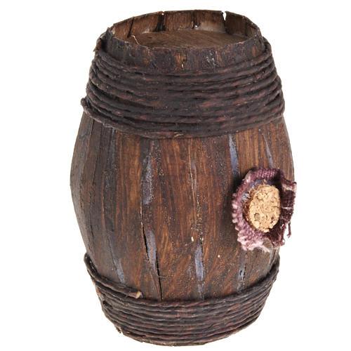 Mini tonneau bois 7.5 cm pour crèche napolitaine 2