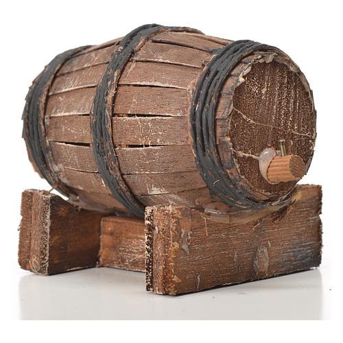 Mini tonneau bois 7.5 cm pour crèche napolitaine 3