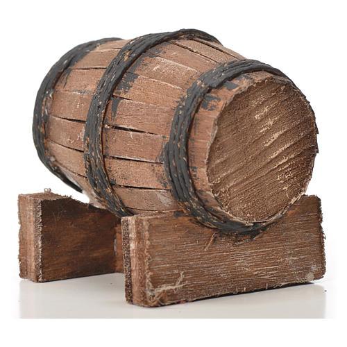 Mini tonneau bois 7.5 cm pour crèche napolitaine 5
