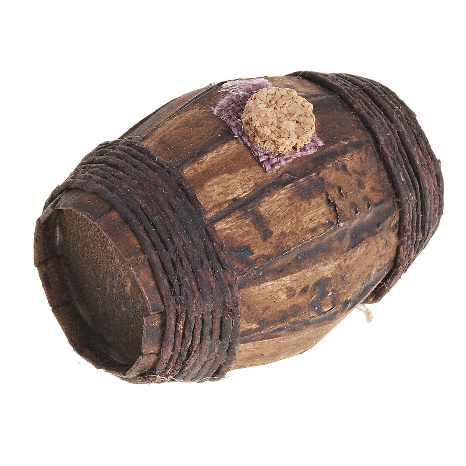 Botte legno 6 cm presepe Napoli 4