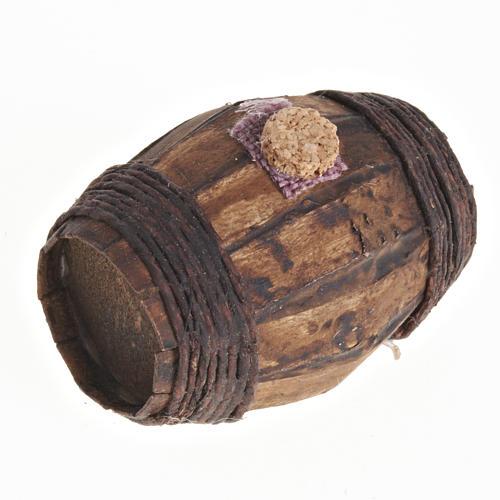 Botte legno 6 cm presepe Napoli 1
