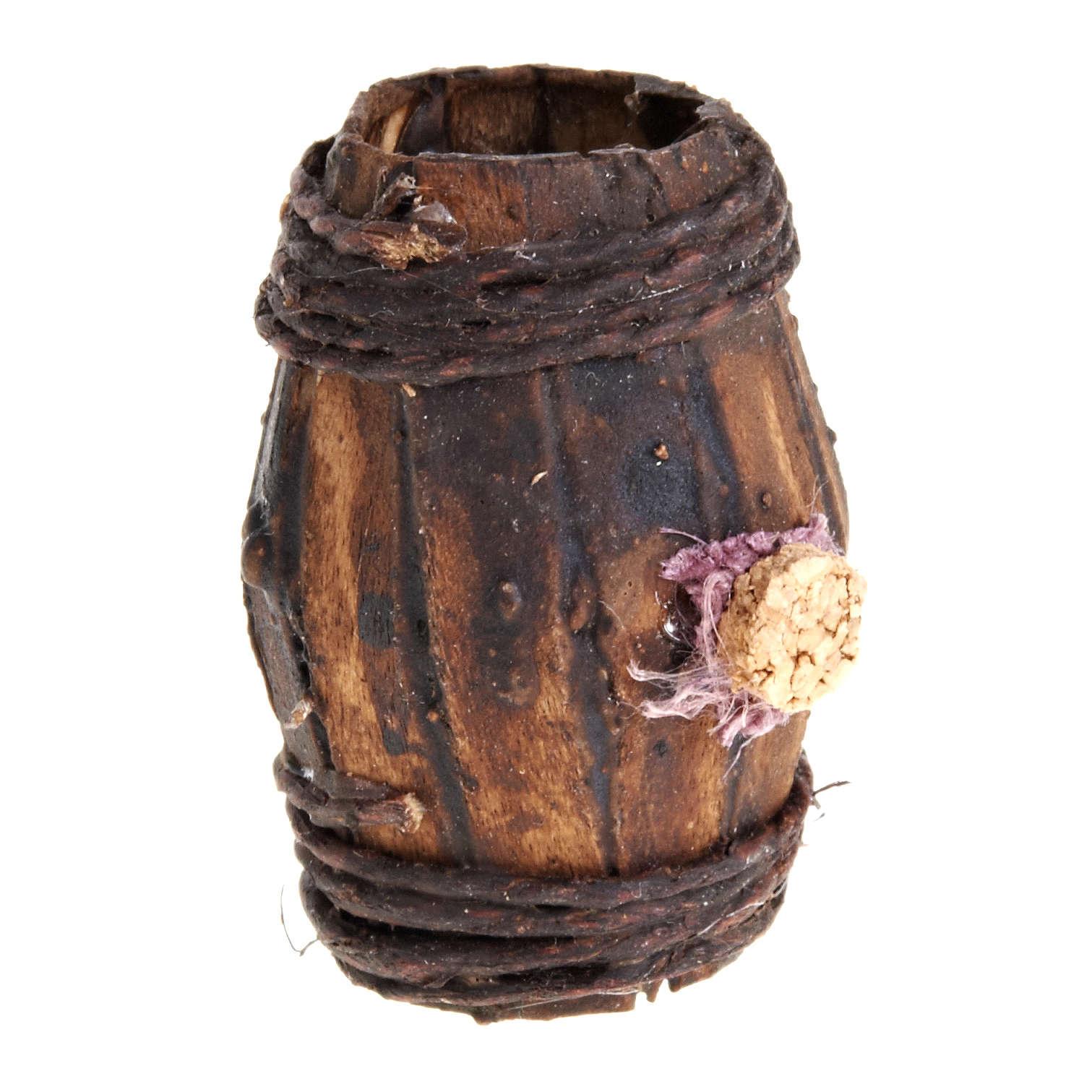 Botte legno 4 cm presepe Napoli 4