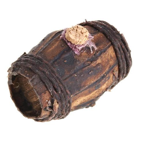 Botte legno 4 cm presepe Napoli 1