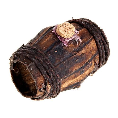Botte legno 4 cm presepe Napoli 2