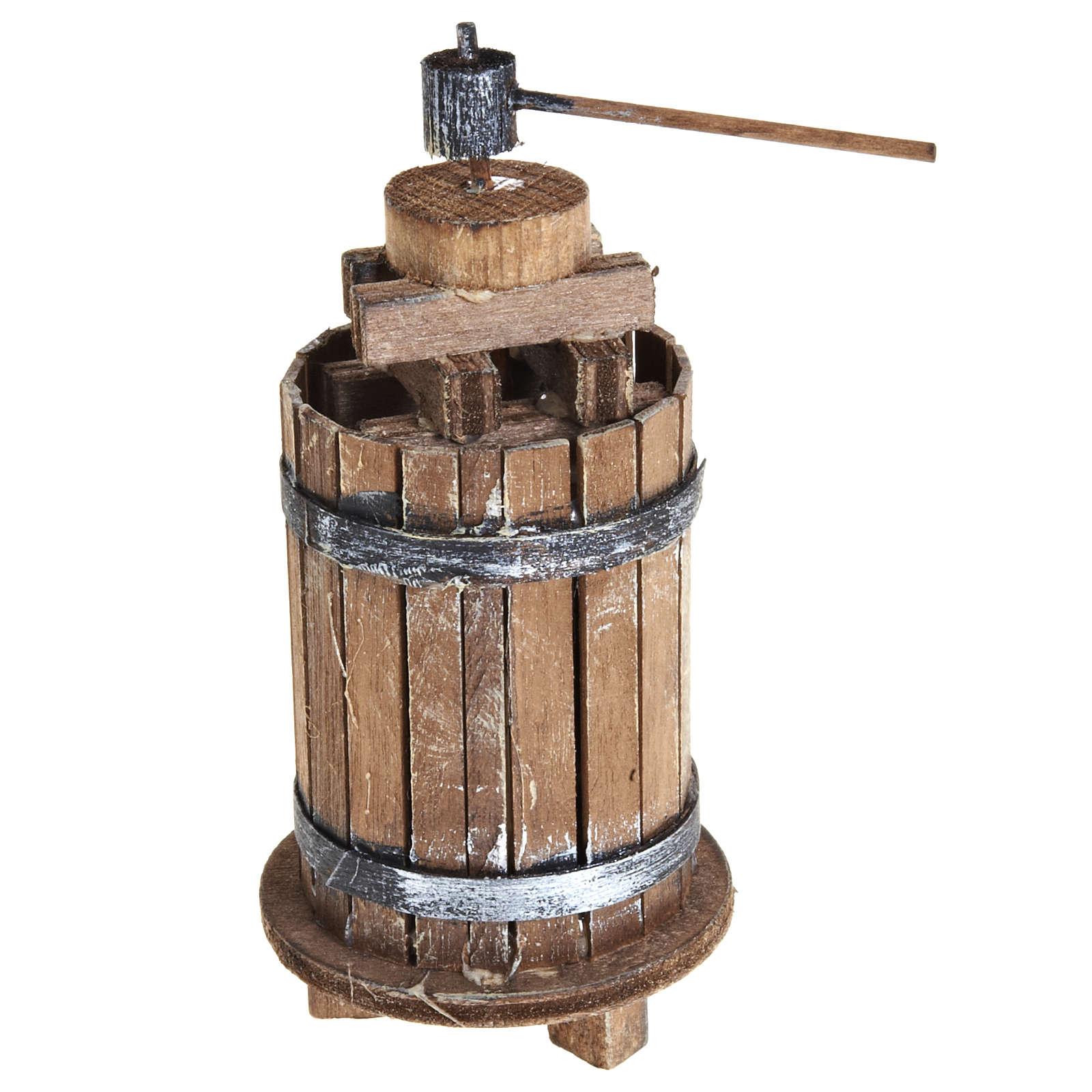 Torchio 11 cm legno presepe Napoli 4
