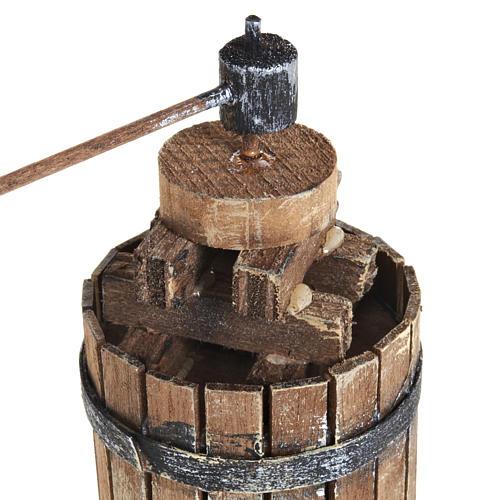 Torchio 11 cm legno presepe Napoli 2