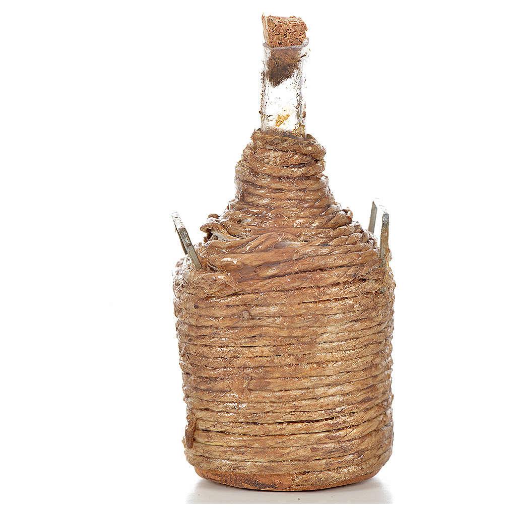 Demijohn in wood for nativity scene 4