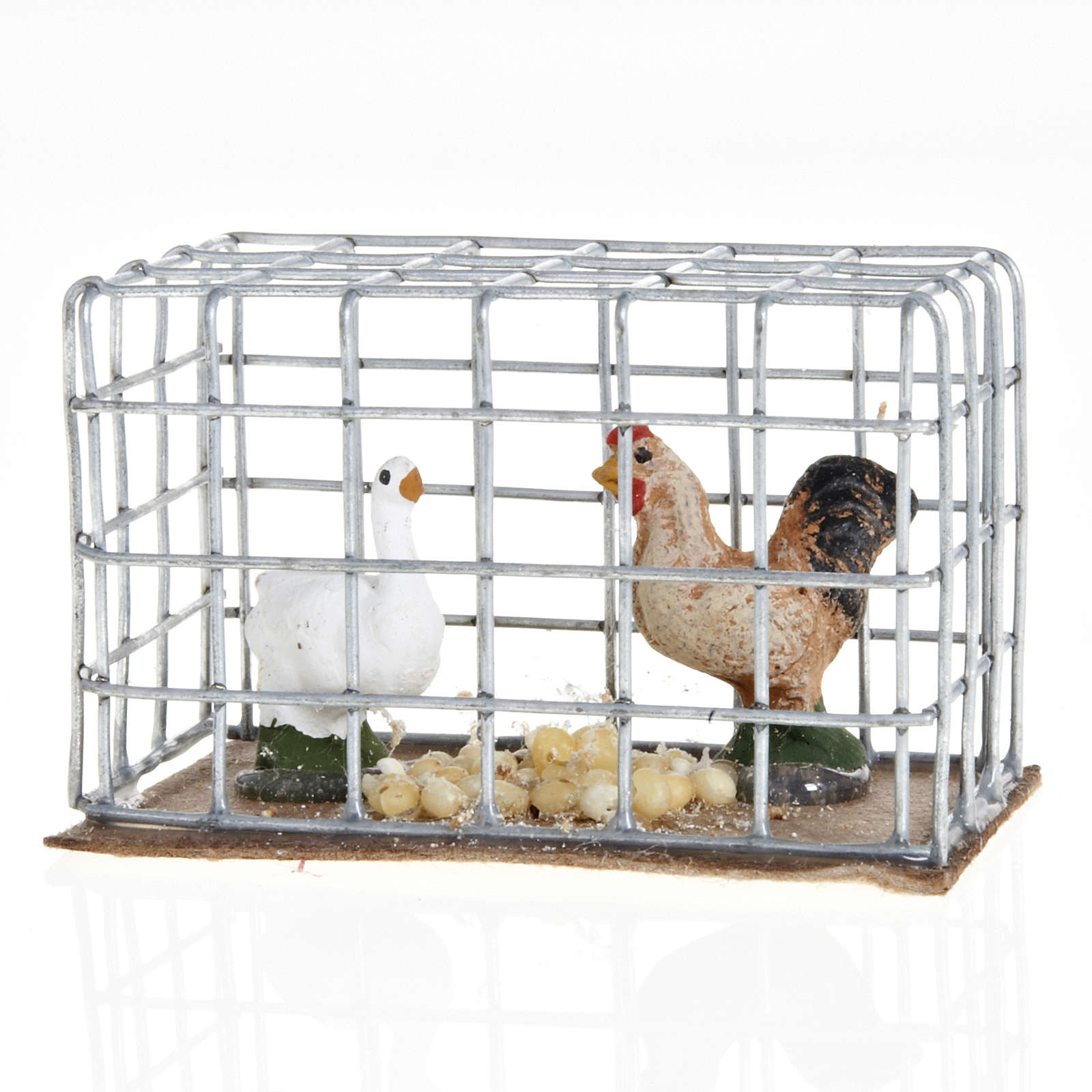 Chickens in a cage 3cm 4