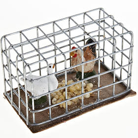 Chickens in a cage 3cm s1