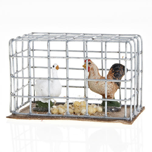 Chickens in a cage 3cm 2