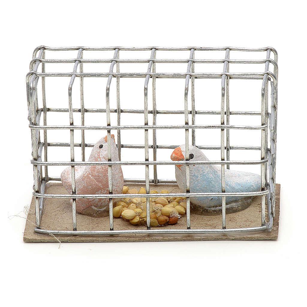 Pigeons 3 cm crèche napolitaine 4