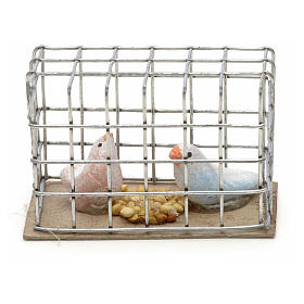 Pigeons 3 cm crèche napolitaine s3