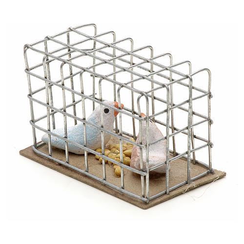 Pigeons 3 cm crèche napolitaine 2