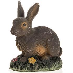 Braunes Kaninchen für Krippe 14 cm, aus Harz s1