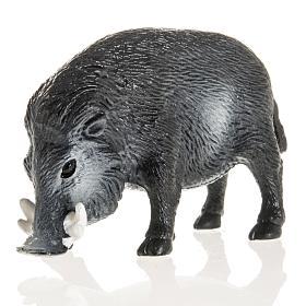 Wildschwein für Krippe 10 cm, aus Harz s1