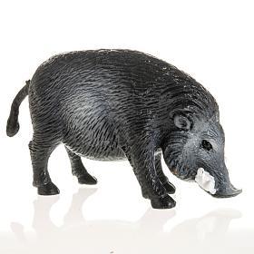 Wildschwein für Krippe 10 cm, aus Harz s2