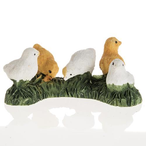Nativity figurines, chicks in resin, 14cm 1