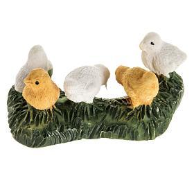 Kurczaki szopka żywica 14 cm s2