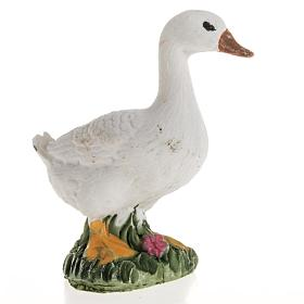 Animals for Nativity Scene: Nativity figurines, goose in resin, 14cm