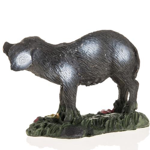 Nativity figurines, black pig in resin, 10cm 2
