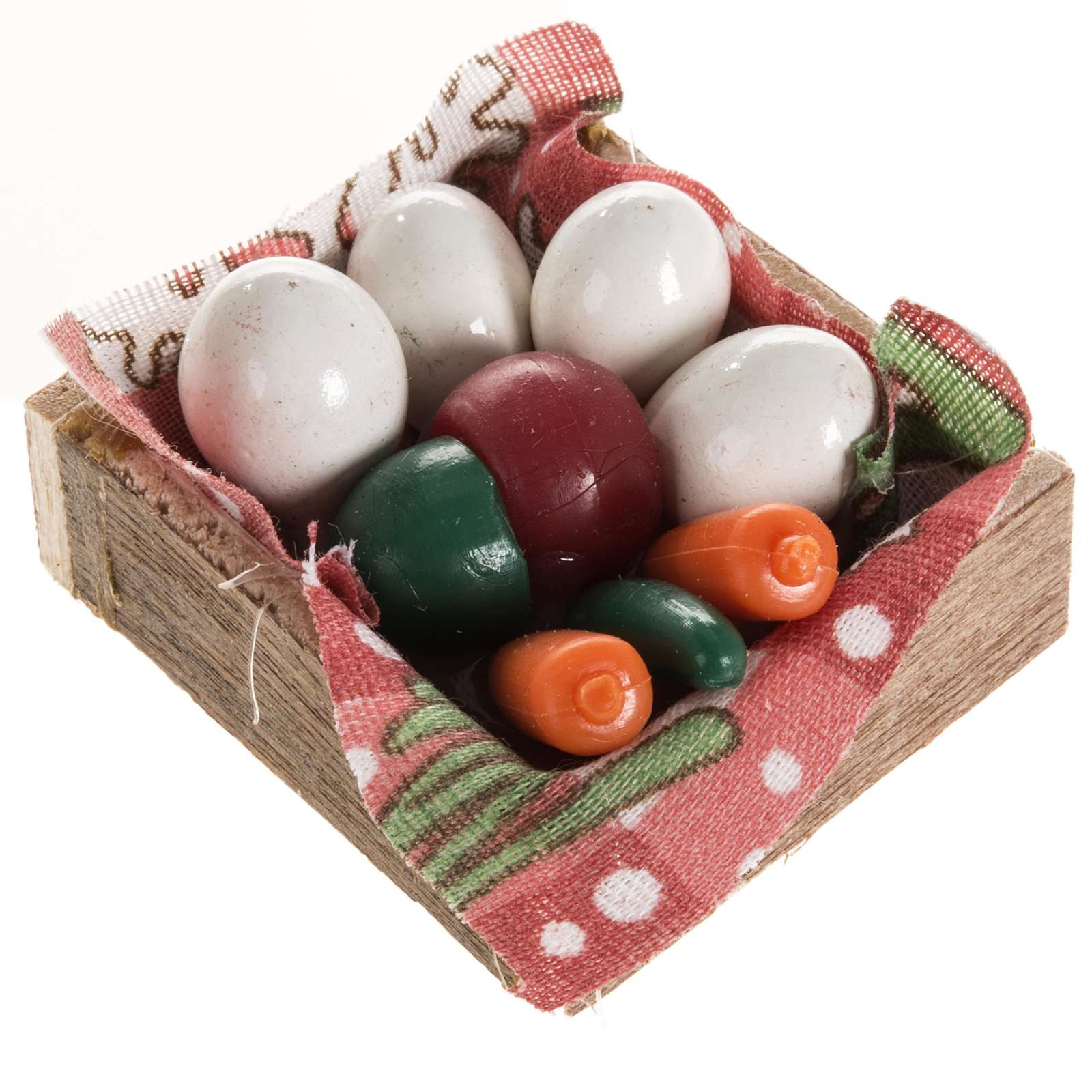 Nativity accessory, box with eggs and vegetables 4