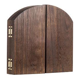 Trittico legno sfondo presepe paesaggio arabo 20x42 s3