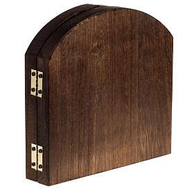Trittico legno sfondo presepe paesaggio arabo 20x42 s4