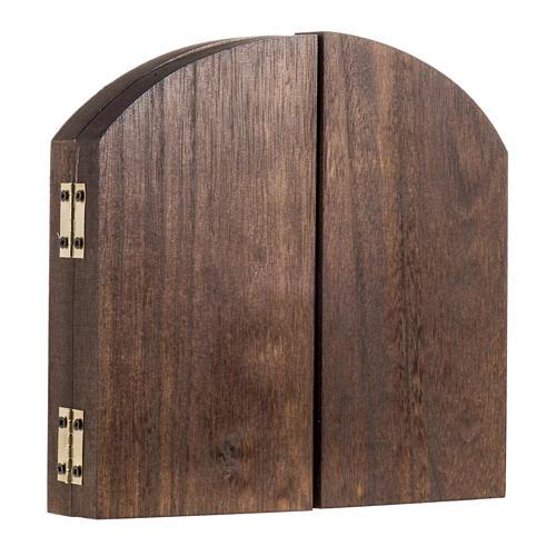 Trittico legno sfondo presepe paesaggio arabo 20x42 3