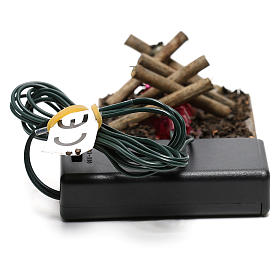 Electric fire for nativities, 2 intermittent LED lights 5x5cm s3