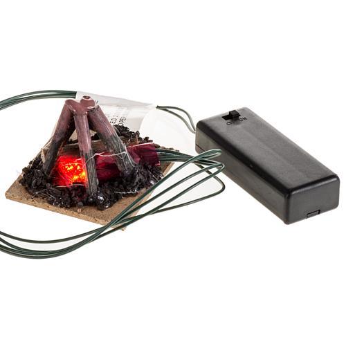 Mini feu 2 led clignotants 5x5cm 3