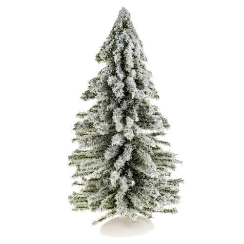 Árbol de navidad con nieve H 15 cm 1