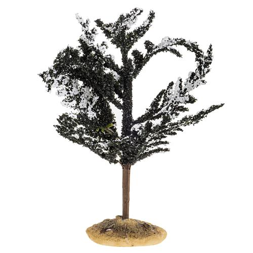 Nativity accessory, snowy tree H15cm 1