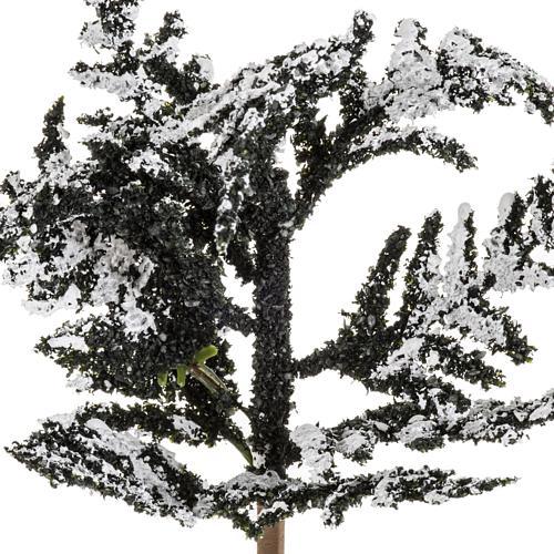Nativity accessory, snowy tree H15cm 2