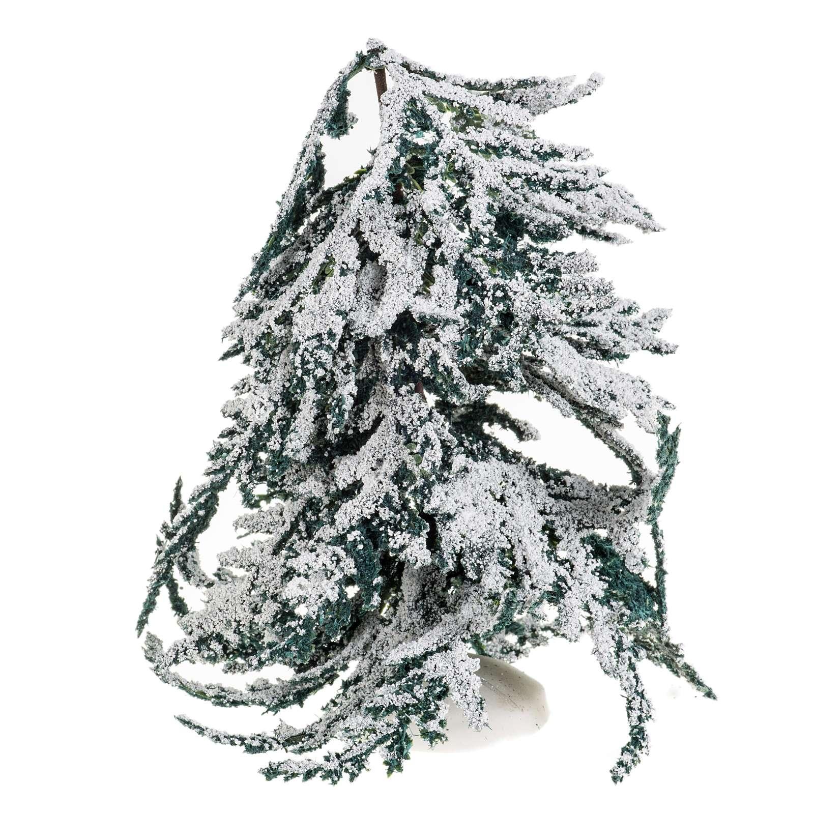 Árbol con nieve H de 15 cm 4