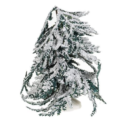 Árbol con nieve H de 15 cm 1