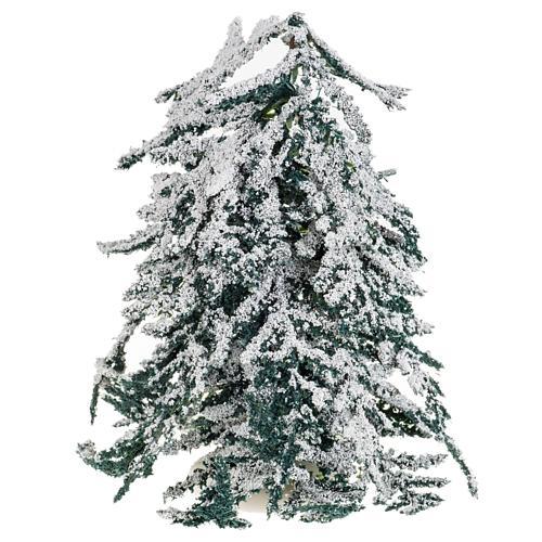 Árbol con nieve H de 15 cm 2
