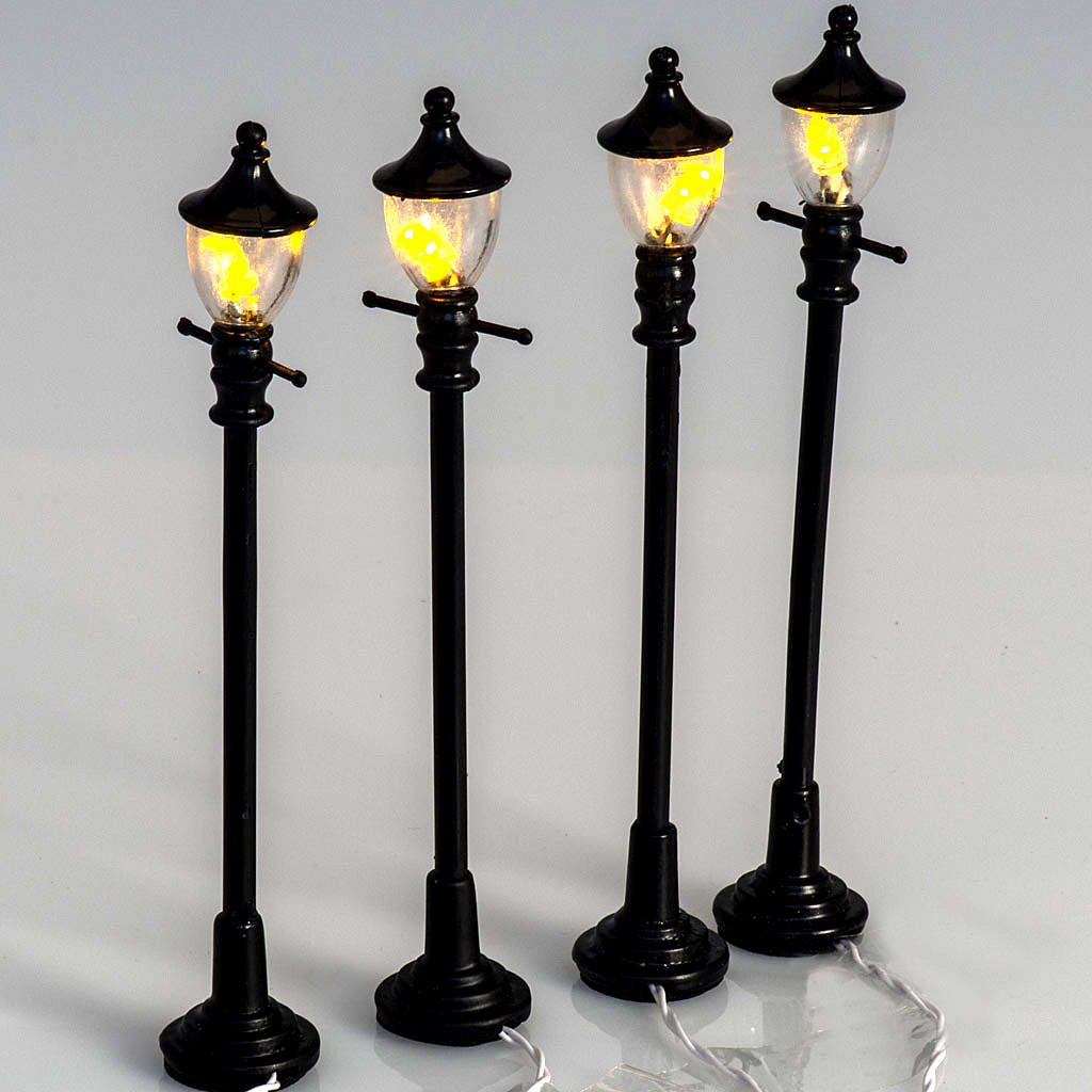 Battery Powered Street Lamps Set Of 4 H10cmbattery Powered St