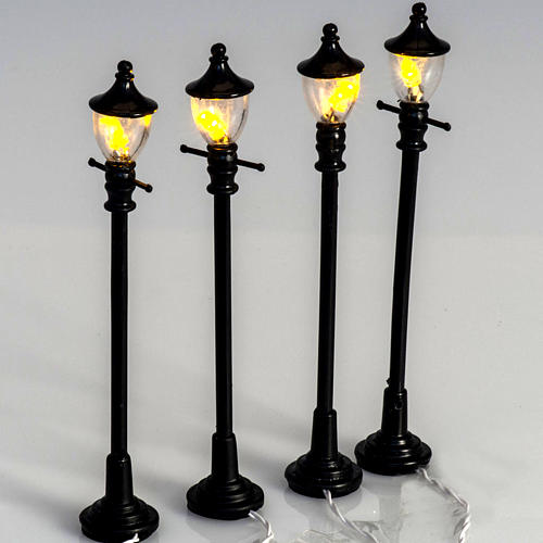 Battery powered street lamps, set of 4, H10cmBattery powered st 2
