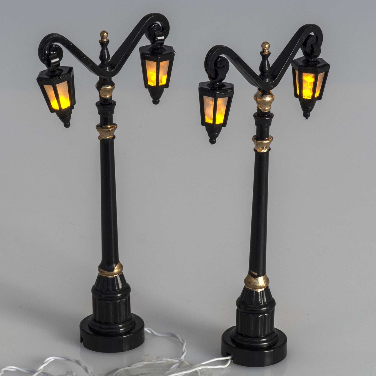Battery powered street lamps, set of 2, H10cm 4