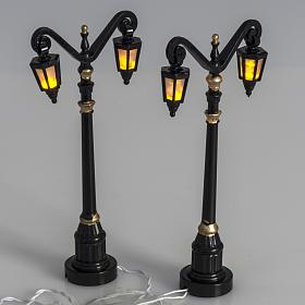 Battery powered street lamps, set of 2, H10cm s2